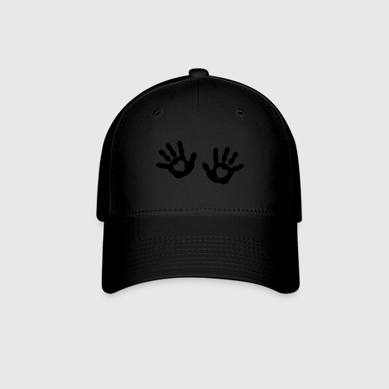 baby - hands - handprint - heart Caps - Baseball Cap