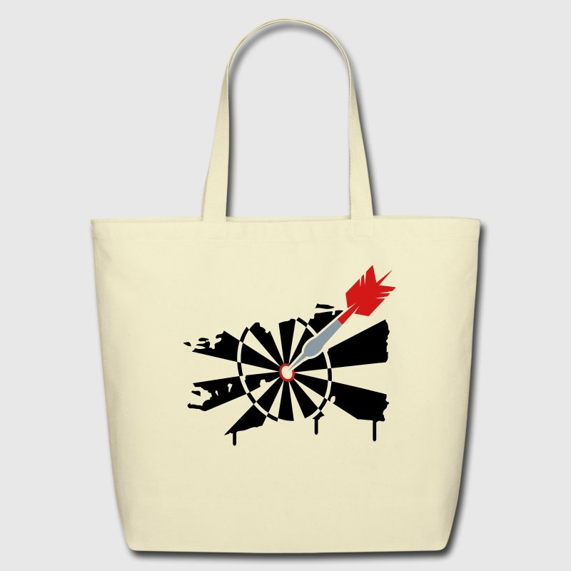 A dartboard with dart Bags  - Eco-Friendly Cotton Tote