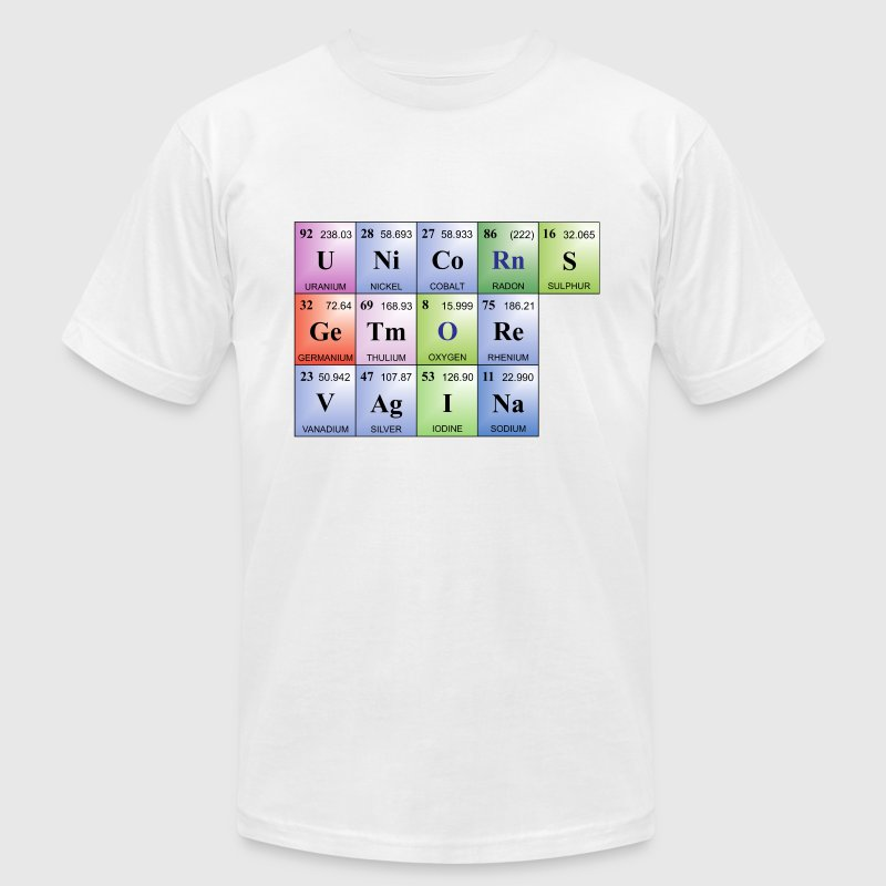 Unicorns Get More Vagina | Periodic Table Words T-Shirts - Men's T-Shirt by American Apparel