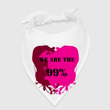 We Are The 99% - Occupy Wall Street Movement Graphic Text Design Buttons - Bandana