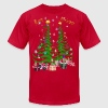 Artsy Christmas Tree and Decorations-lettered - Men's Fine Jersey T-Shirt