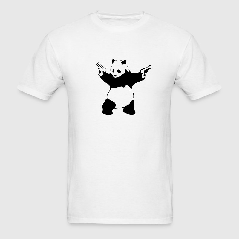 Panda with Guns - Men's T-Shirt