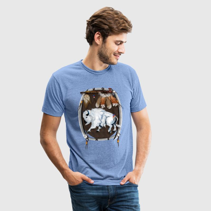White Buffalo Sheild - Unisex Tri-Blend T-Shirt by American Apparel