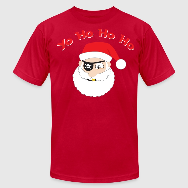 Pirate Santa, Yo Ho Ho Ho T-shirt - Men's T-Shirt by American Apparel