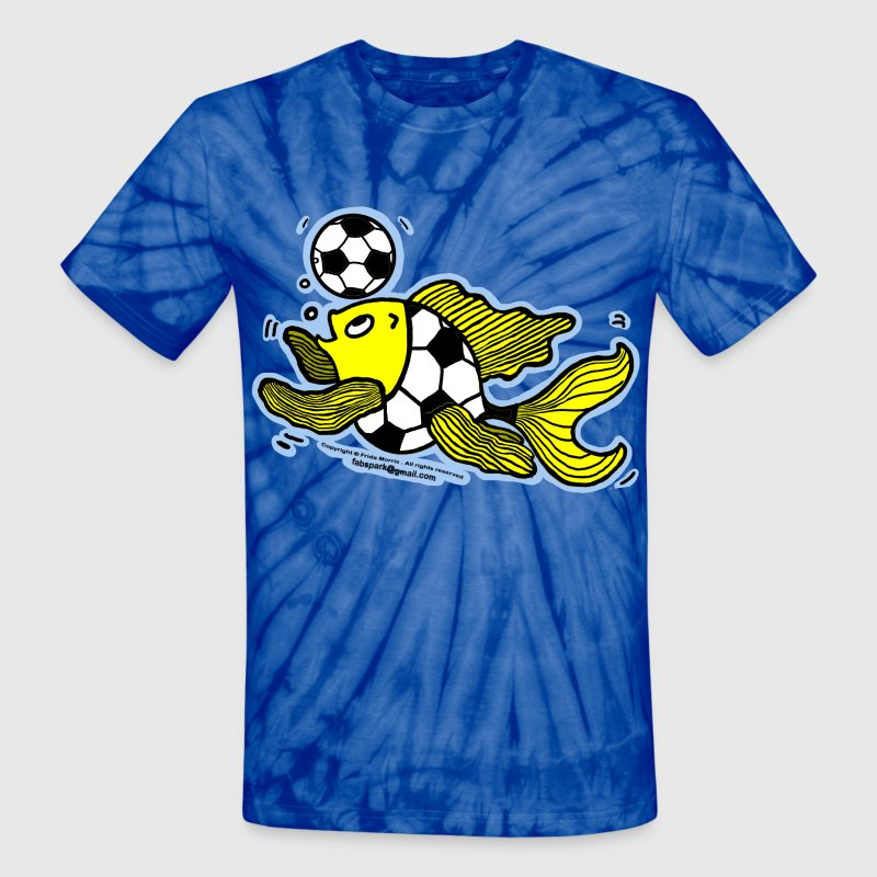 Football Fish (Soccer), Fish Playing football  - Unisex Tie Dye T-Shirt