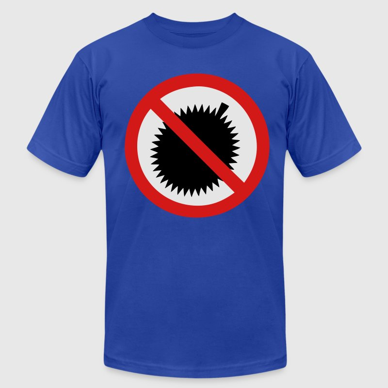 NO Durian Fruit Sign 2 T-Shirts - Men's T-Shirt by American Apparel