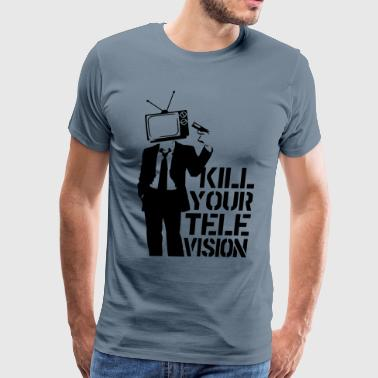 Kill Your Television VECTOR T-Shirts - Men's Premium T-Shirt