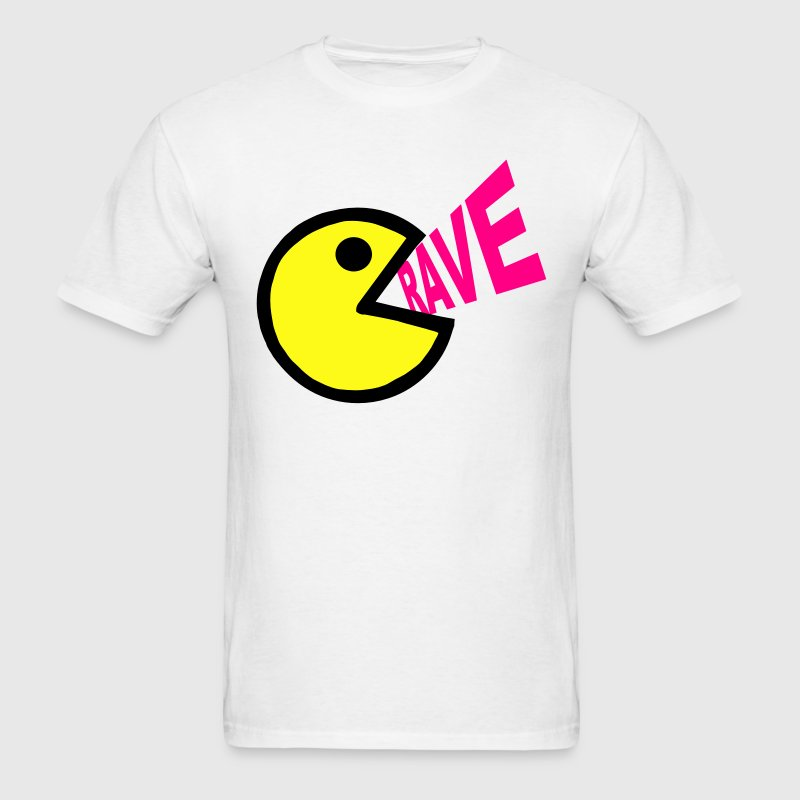 Smiley Face shouting Rave - Men's T-Shirt