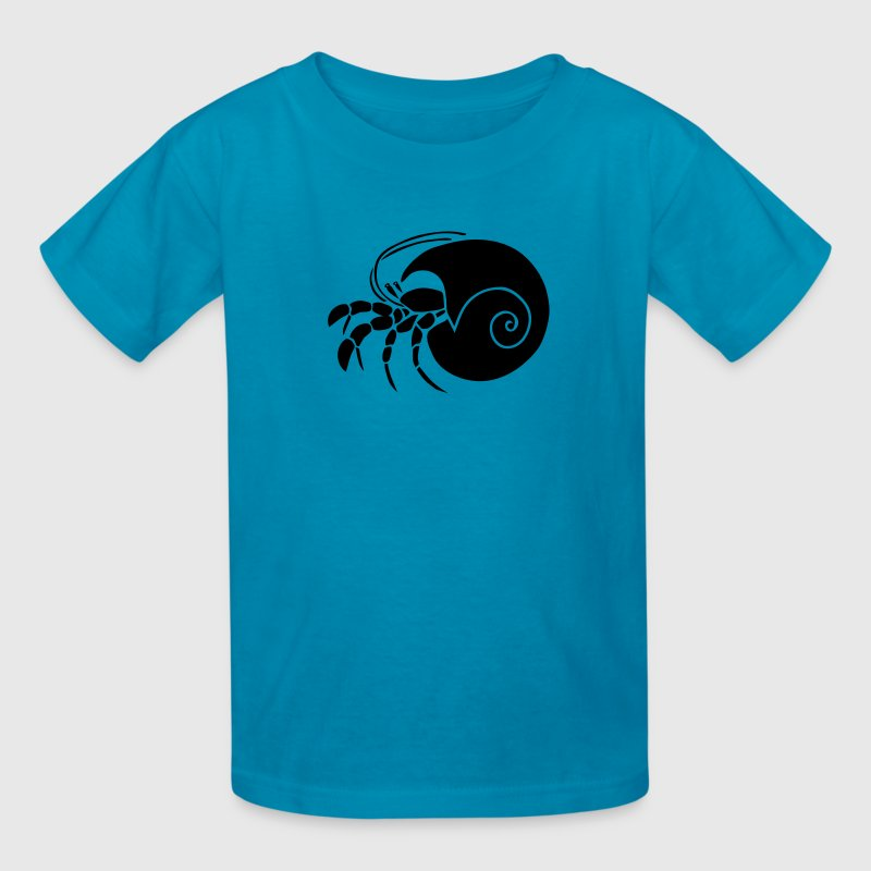animal t-shirt hermit crab crayfish cancer shrimp prawn lobster ocean snail conch seafood sea food shellfish Kids' Shirts - Kids' T-Shirt