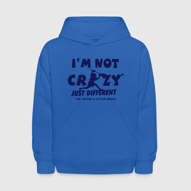 I'm Not Crazy, Lacrosse Goalie Sweatshirts - Kids' Hoodie