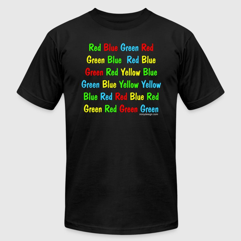 The Stroop Test - Men's T-Shirt by American Apparel