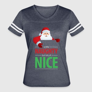 Santa Claus Naughty and Nice Long Sleeve Shirt | Spreadshirt