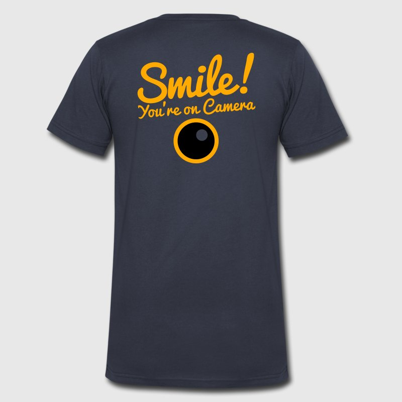 smile you're on camera T-Shirts - Men's V-Neck T-Shirt by Canvas