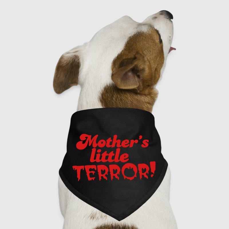 mother's little terror! with blood dripping font Dog T-Shirts - Dog Bandana