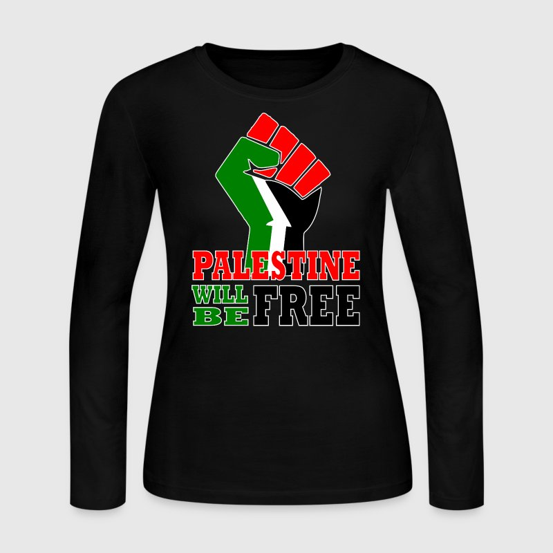 Palestine will be free - Women's Long Sleeve Jersey T-Shirt