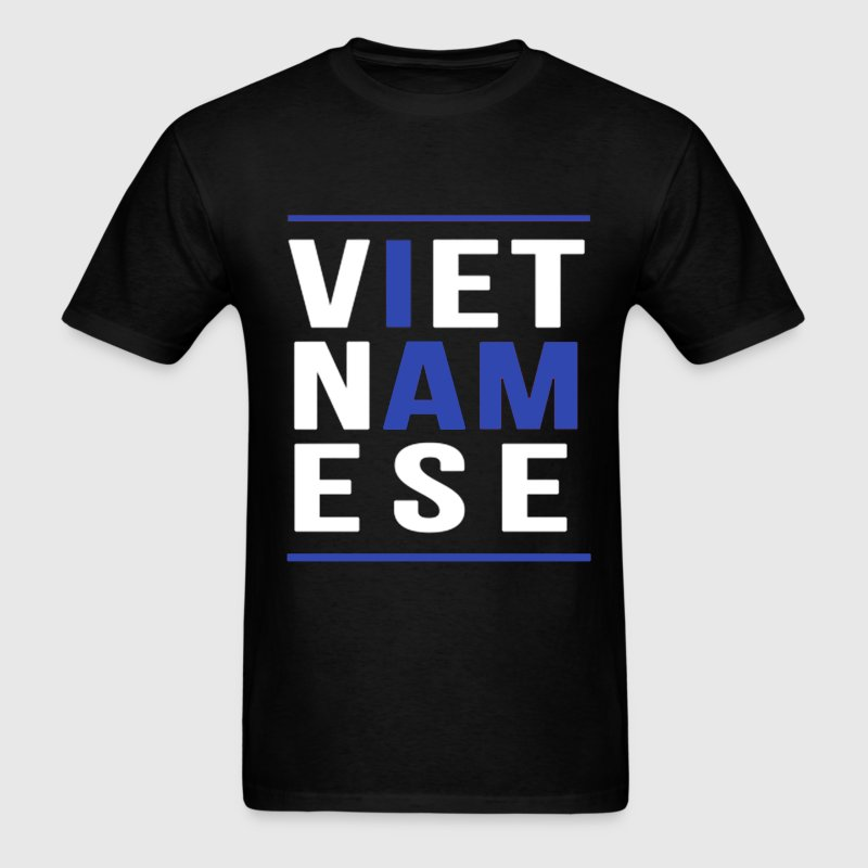 I AM VIETNAMESE (blue with bands) T-Shirts - Men's T-Shirt