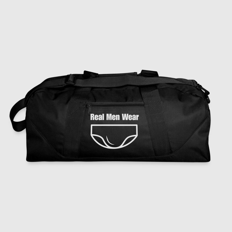 Real Men Wear Speedos (Graphic) Duffel Bag - Duffel Bag