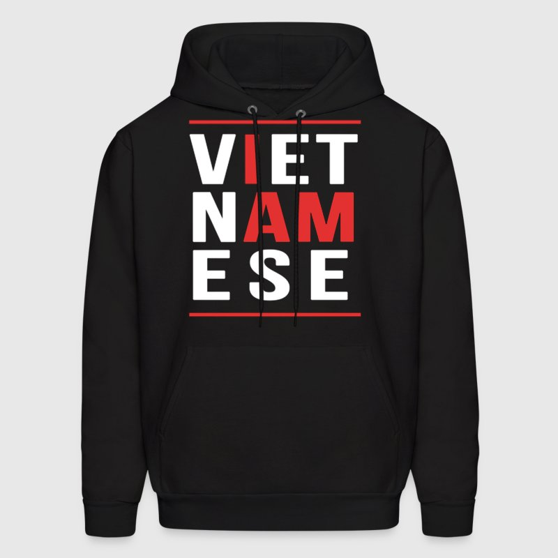 I AM VIETNAMESE (red with bands) Hoodies - Men's Hoodie