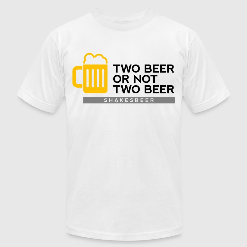 Two Beer Shakesbeer 2 (dd)++ T-Shirts - Men's T-Shirt by American Apparel
