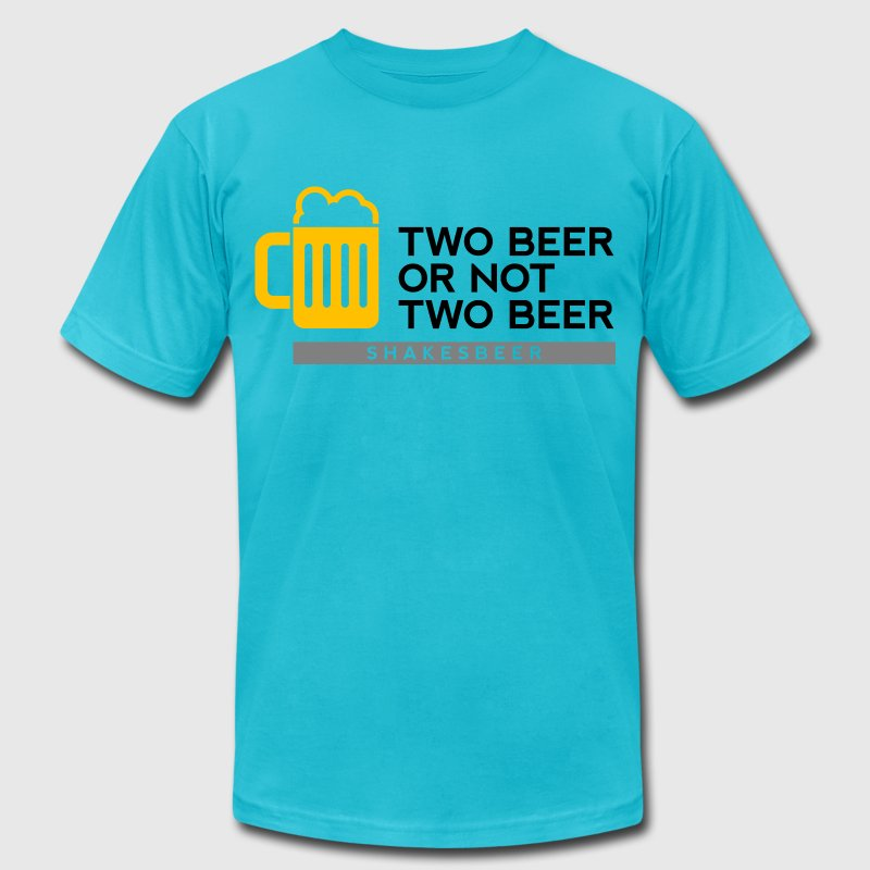 Two Beer Shakesbeer 2 (dd)++ T-Shirts - Men's Fine Jersey T-Shirt