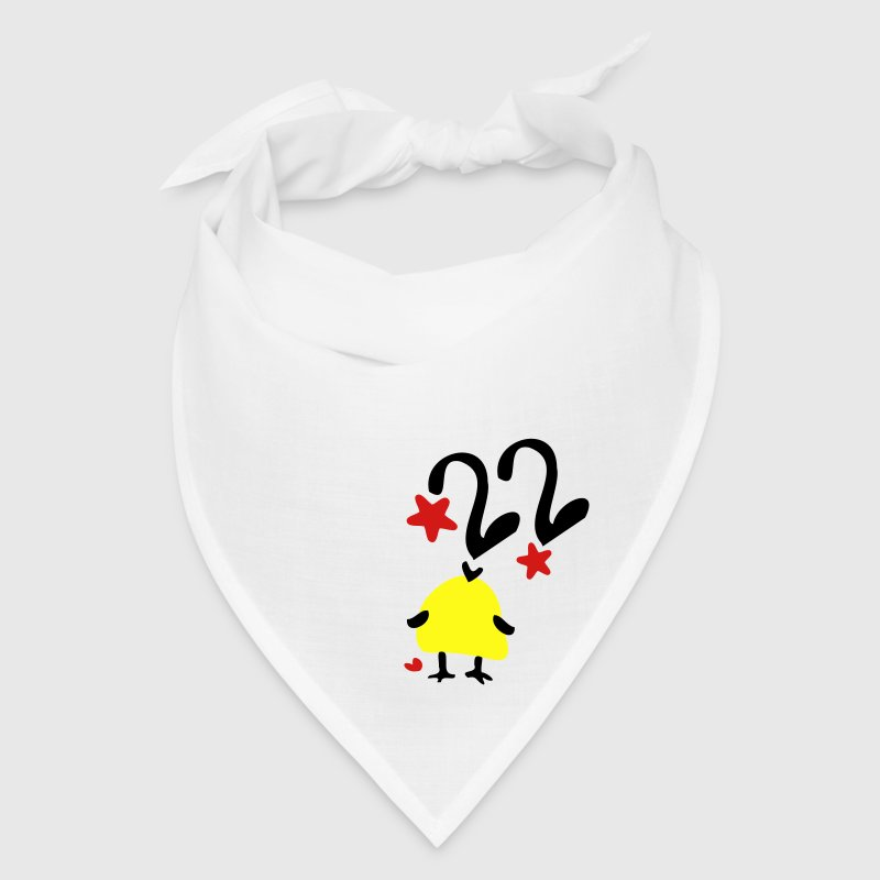 Number 22 yellow bird stars Bandana - Bandana