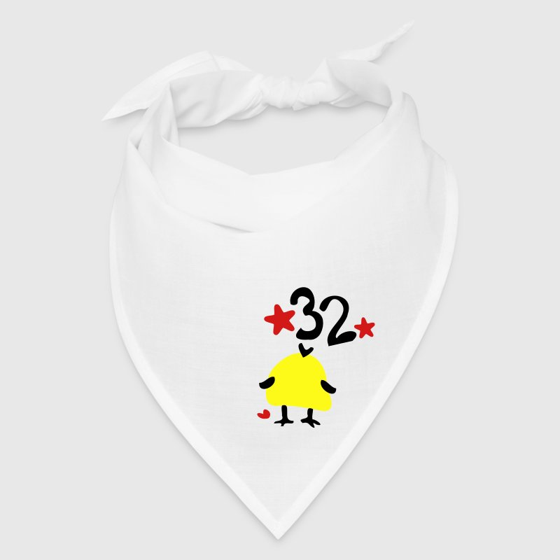Number 32  yellow bird stars Bandana - Bandana