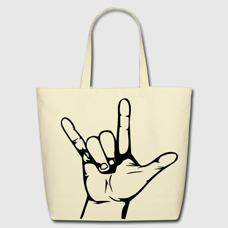 rock hand Bags  - Eco-Friendly Cotton Tote