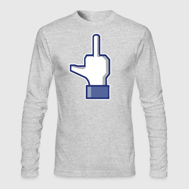fuck facebook Long Sleeve Shirts - Men's Long Sleeve T-Shirt by Next Level