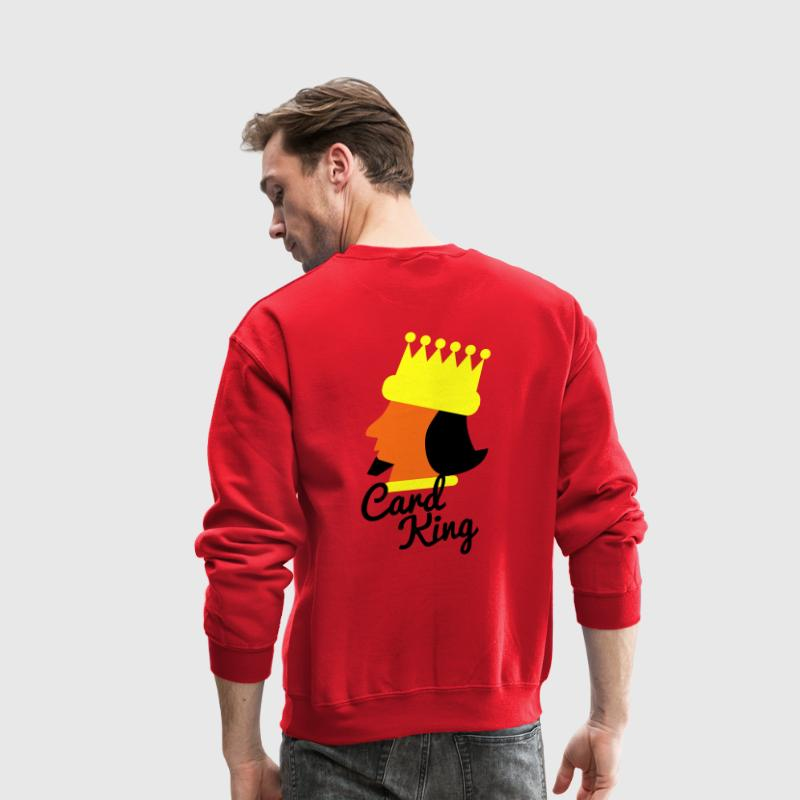 cad card king POKER KING design Long Sleeve Shirts - Crewneck Sweatshirt