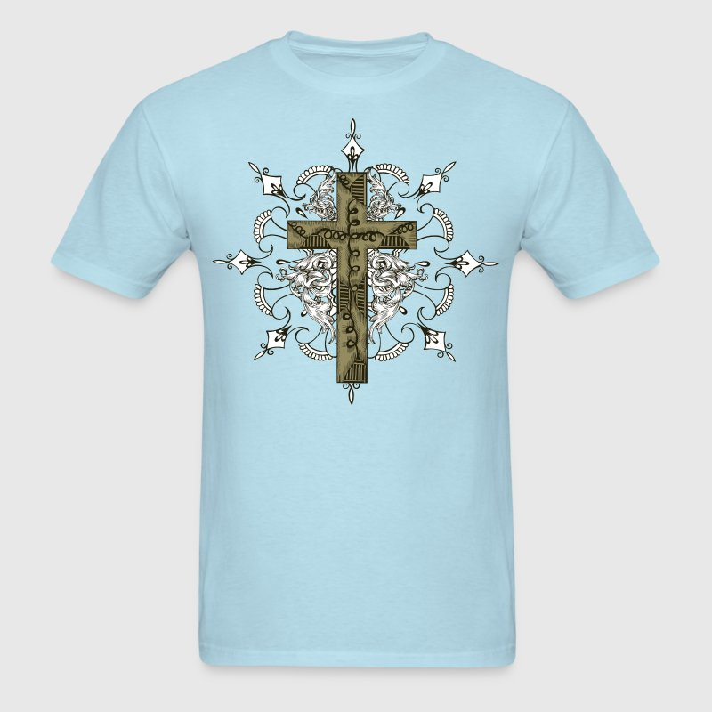 Ornate Cross - HD Design T-Shirts - Men's T-Shirt