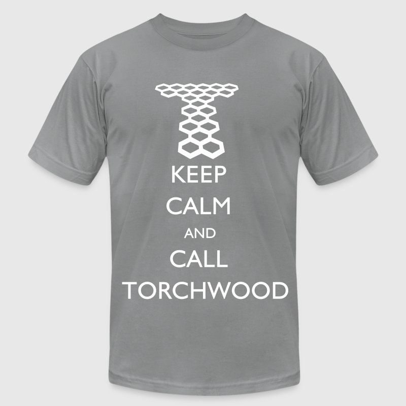Keep Calm and Call Torchwood T-Shirts - Men's T-Shirt by American Apparel