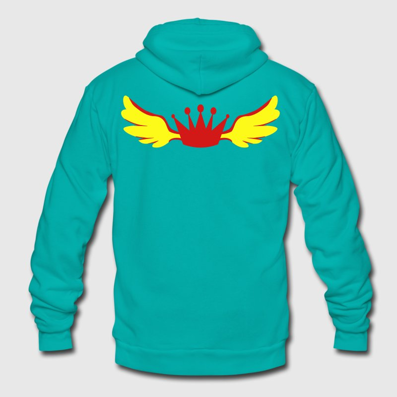 a winged royalty king crown Zip Hoodies/Jackets - Unisex Fleece Zip Hoodie by American Apparel