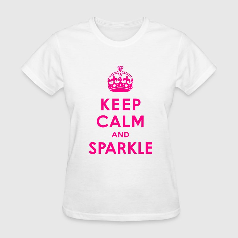 Keep Calm and Sparkle Women's T-Shirts - Women's T-Shirt