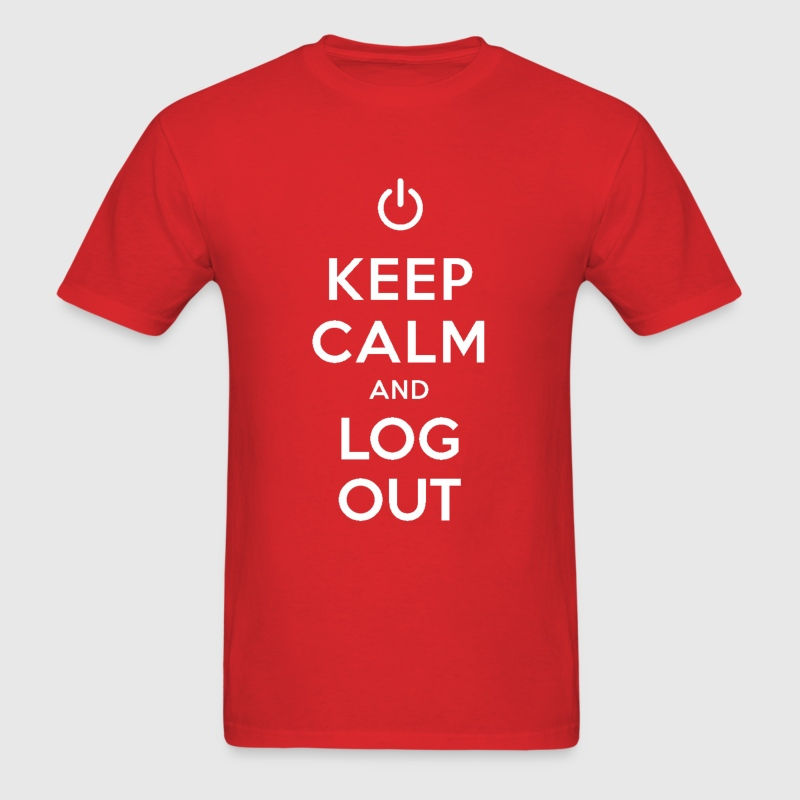 Keep Calm and Log Out Tee - Men's T-Shirt
