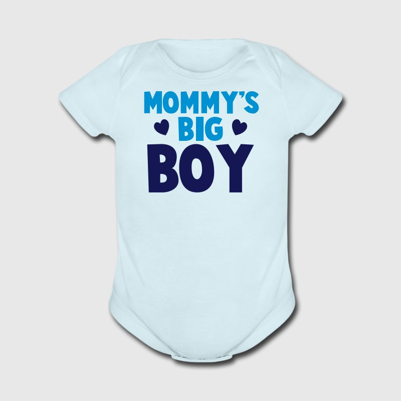 MOMMY's BIG boy blue Baby Bodysuits - Short Sleeve Baby Bodysuit