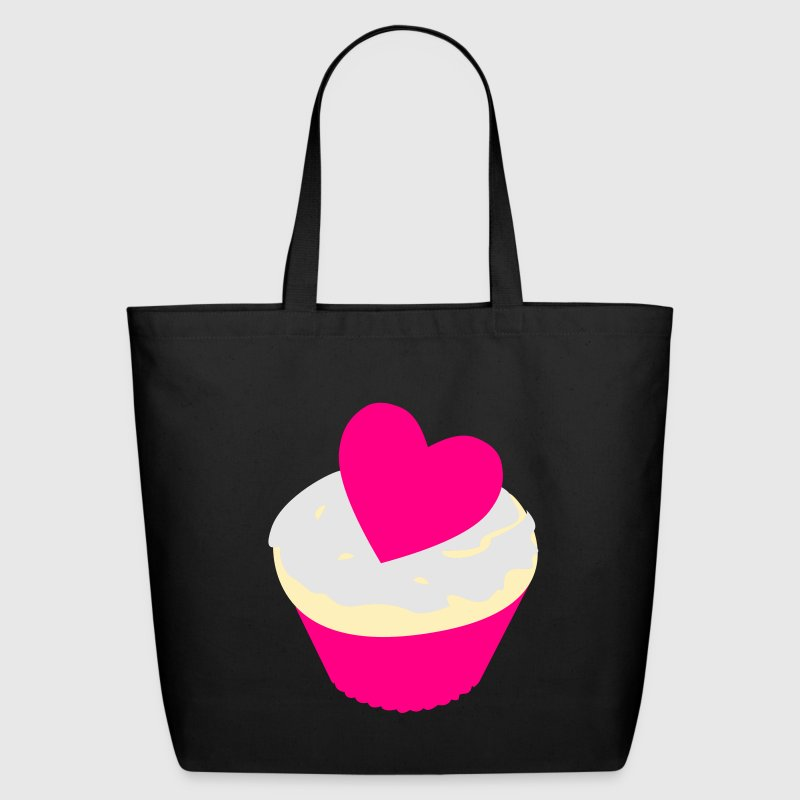heart cupcake Bags  - Eco-Friendly Cotton Tote