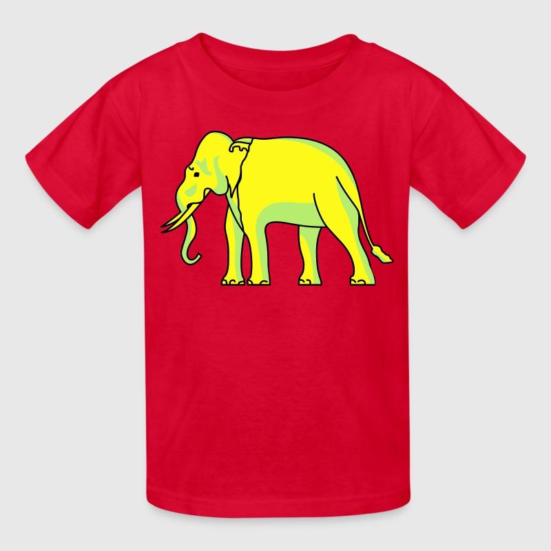 Siam Elephant Flag - Kids' T-Shirt