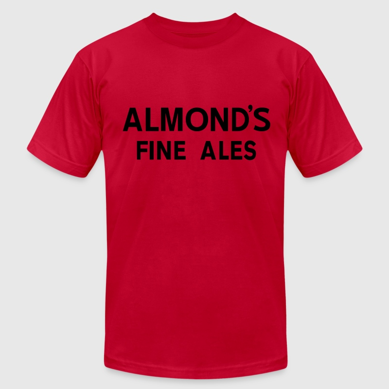 Almond's Fine Ales T-Shirts - Men's T-Shirt by American Apparel