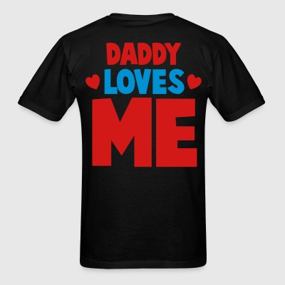 DADDY LOVES ME with little hearts Hoodies - Men's T-Shirt
