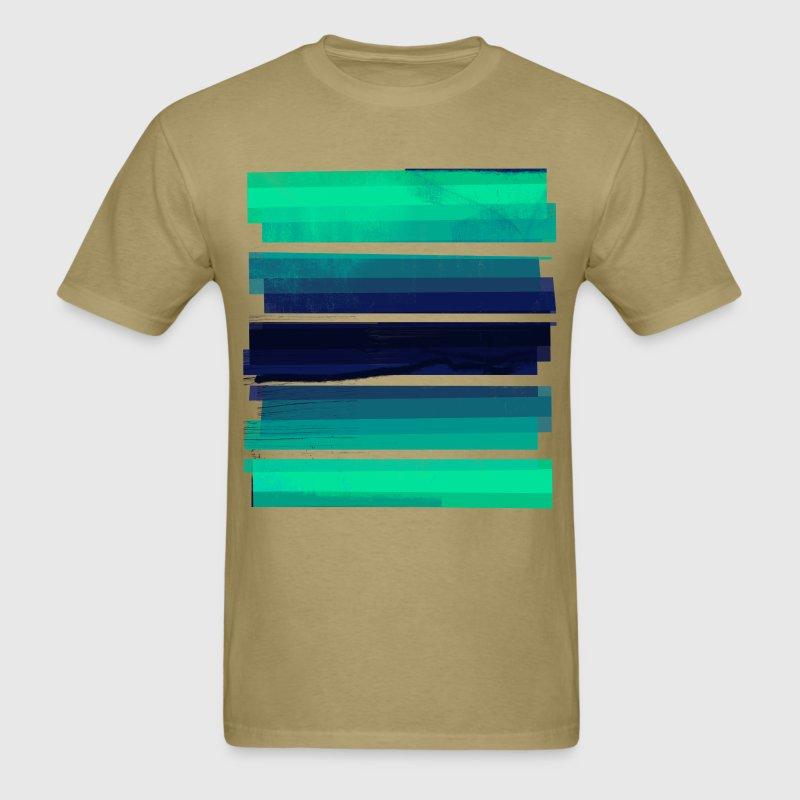 Light Green Gradient Stripes T-Shirts - Men's T-Shirt