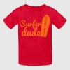 surfer dude with surf board Kids' Shirts - Kids' T-Shirt