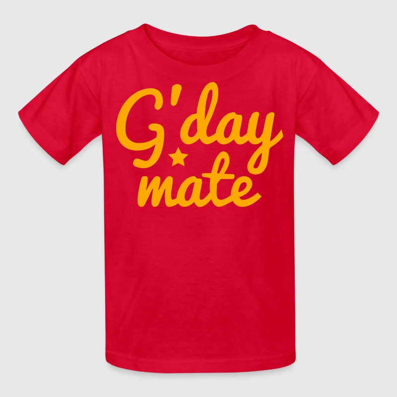g'day mate (hello chap) Kids' Shirts - Kids' T-Shirt