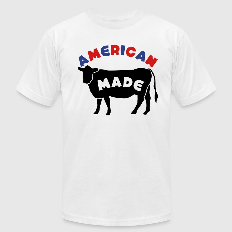 AMERICAN MADE beef cow T-Shirts - Men's T-Shirt by American Apparel