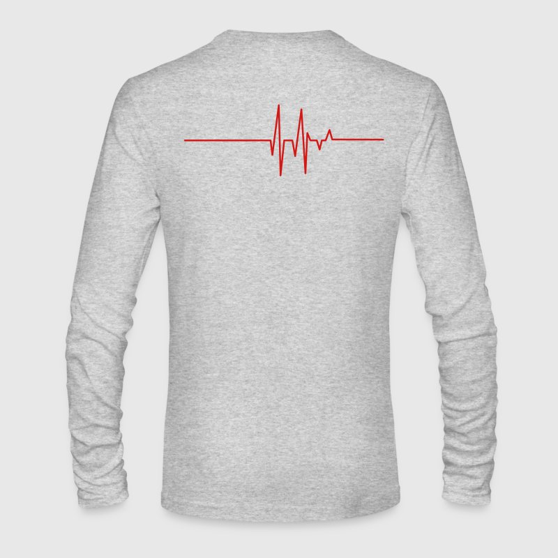 heart beat line Long Sleeve Shirts - Men's Long Sleeve T-Shirt by Next Level