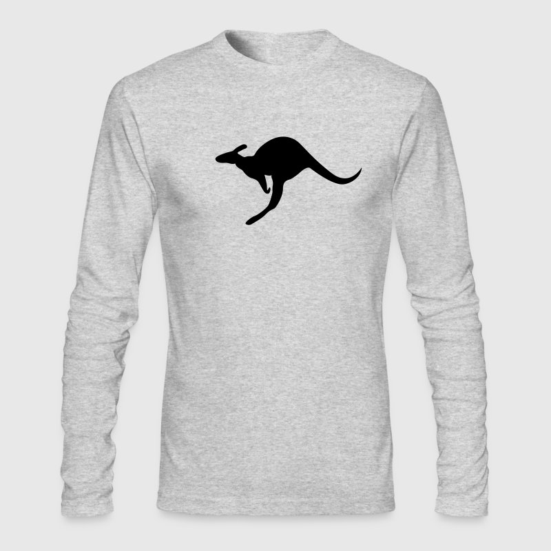 Kangaroo Roo joey boomer Australia outback wallaby marsupial jump bounce Long Sleeve Shirts - Men's Long Sleeve T-Shirt by Next Level