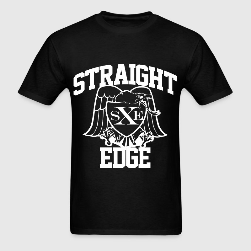 Straight Edge - Men's T-Shirt