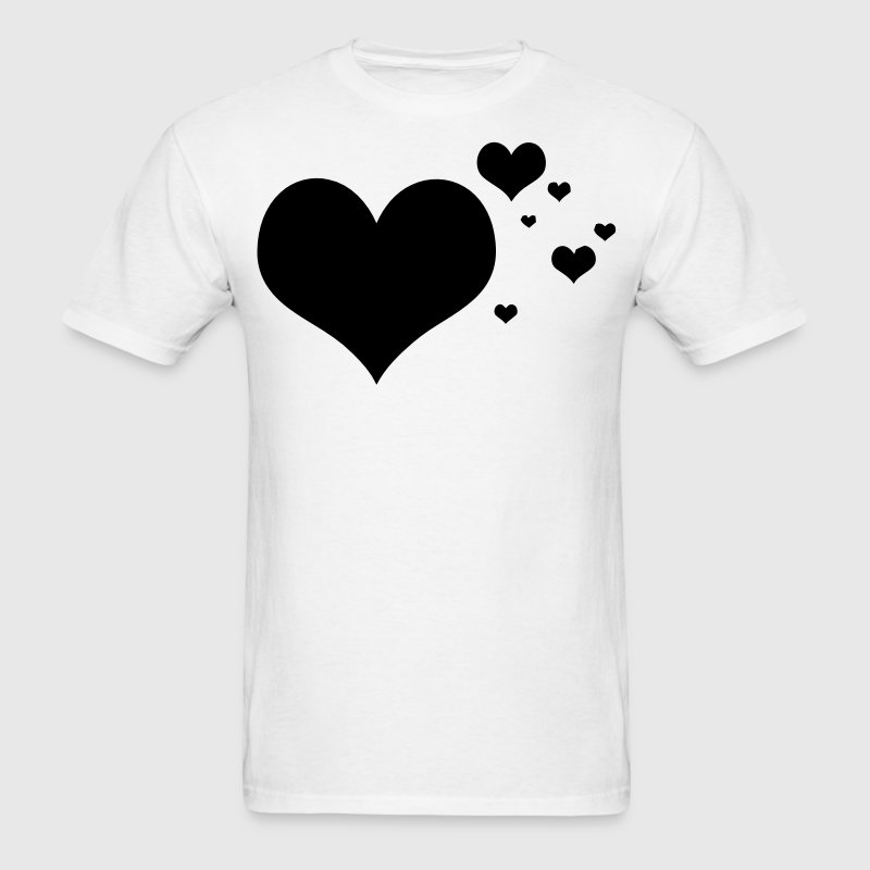 Flying Hearts Cloud T-Shirts - Men's T-Shirt