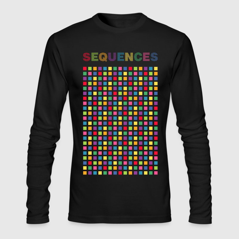 light color cubes design in sequence - Men's Long Sleeve T-Shirt by Next Level