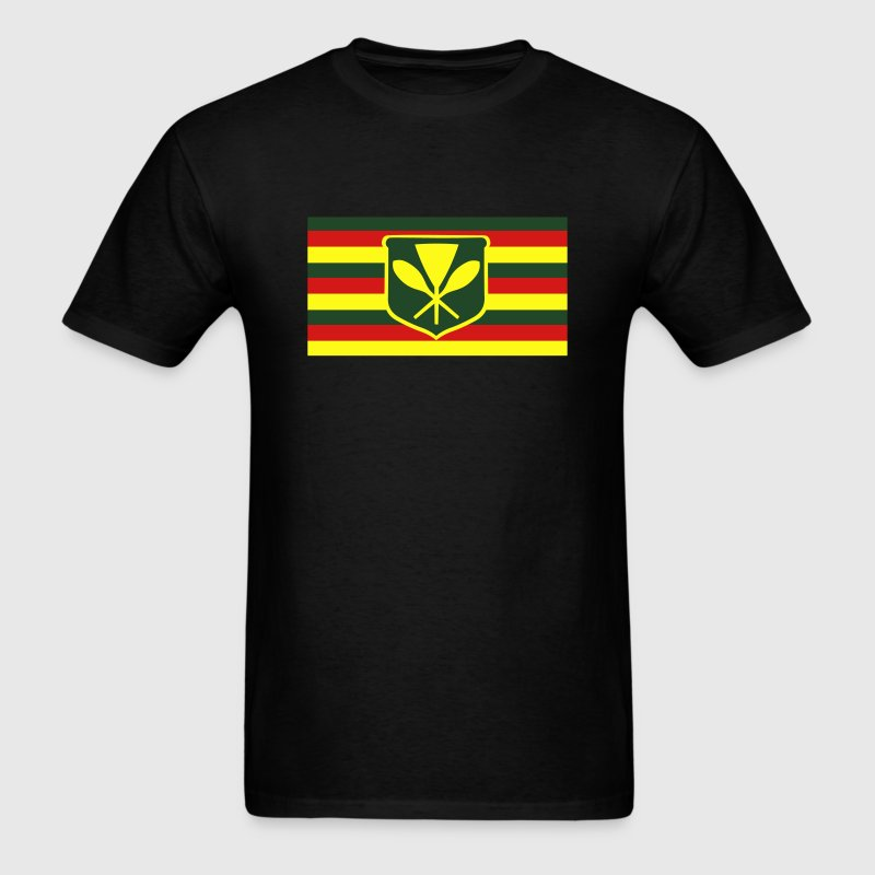 Kanaka Maoli - Native Hawaiian Flag T-Shirts - Men's T-Shirt