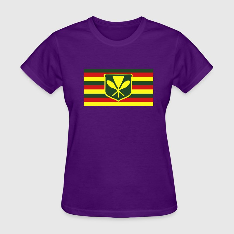 Kanaka Maoli - Native Hawaiian Flag Women's T-Shirts - Women's T-Shirt